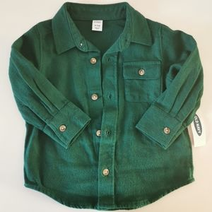 *3/$10* Old Navy Toddler Green Long Sleeve Shirt